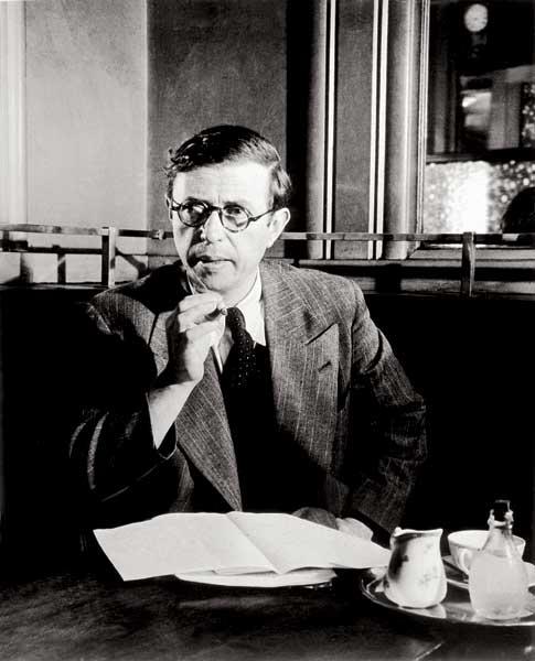 Jean-Paul Sartre au Café de Flore, 1944 - Brassaï